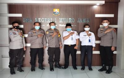 Polres Muaro Jambi adakan Sosialisasi Penerimaan Polri di SMAN 1 Muaro Jambi